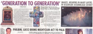 """Generation to Generation: Contemporary Assemblage"" - North County Times, January 22, 2004"