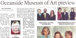 """New Exhibit Feted at Oceanside Museum of Art Preview"" - North County Times, February 1, 2004"