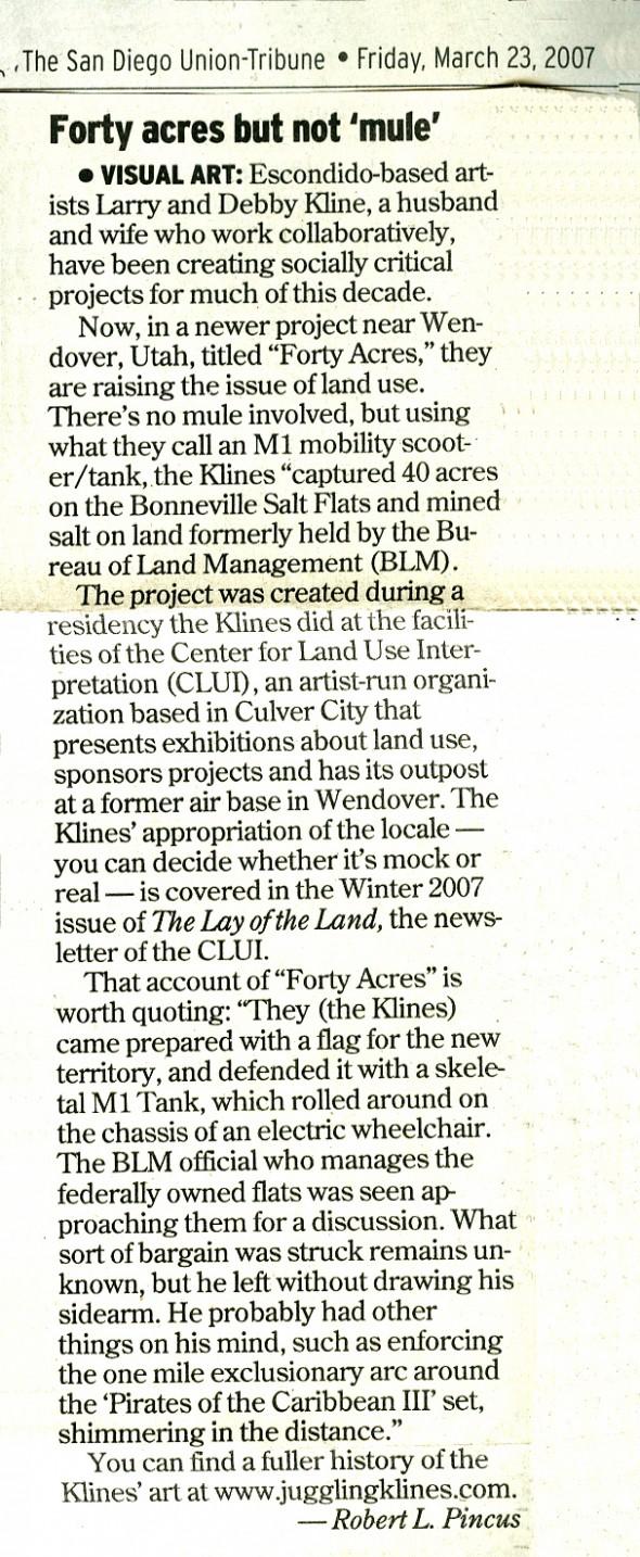 Forty Acres Review, SDUT, Mar. 23, 2007