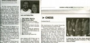 """""""Artists Make a Move with Global Chess Game"""" - North County Times, April 23, 2009"""