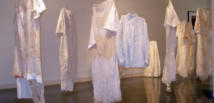 Textile artist weaves stories of Jewish culture in exhibit - La Jolla Light, October 2006