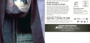 Shmata Nouveau: Textiles Through the Wringer, Sept. 7 - Oct. 29, 2006