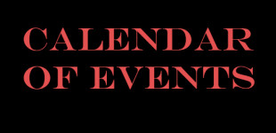 Calendar of Upcoming Events 2017-2018