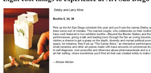 "San Diego City Beat, ""Eight Cool Things to Experience at Art San Diego,"" by Kinsee Morlan, Nov. 6, 2013"